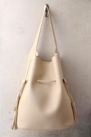 Posh Appeal Beige Bucket Bag 1
