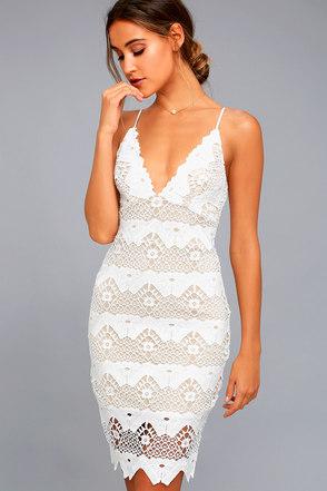 Tight White Lace Dress