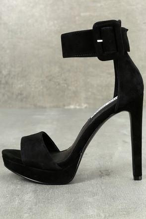 Steve Madden Circuit Suede Leather Heels Black Heels