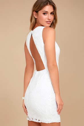 party pick me up white lace backless bodycon dress 3