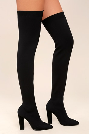 black the knee boots for and black otk boots at