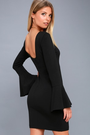 Black party dresses with sleeves