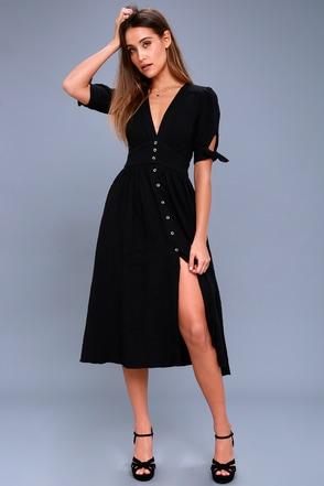Love Of My Life Black Midi Dress 1