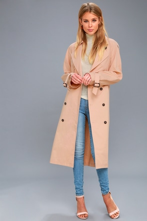 Wesley Blush Pink Trench Coat 5