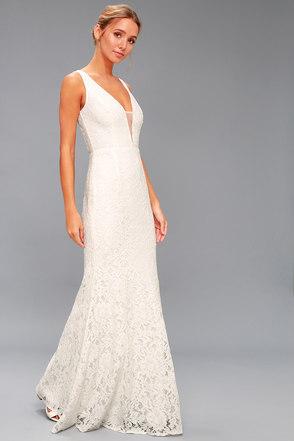 Everly White Lace Maxi Dress 3