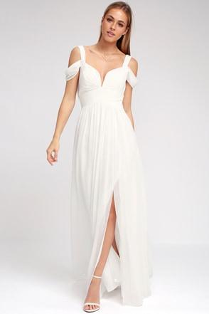 Bariano Ocean Of Elegance Ivory Maxi Dress 10