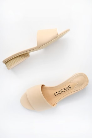 Addisyn Beige Slide Sandals 3