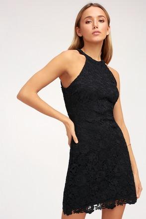 Love Poem Black Lace Dress 6