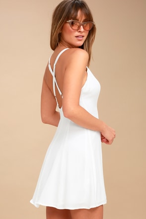 Rachel White Slip Dress 2