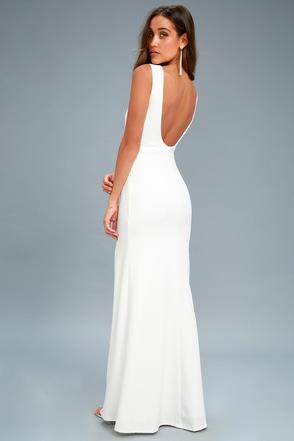 Elegant White Maxi Dress White Maxi Dress Bridal Dress