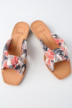Haviva Coral Multi Knotted Slide Sandals 1