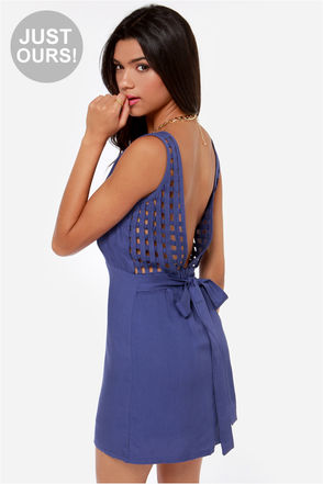 LULUS Exclusive Didn't Start the Fire Indigo Blue Dress at Lulus.com!