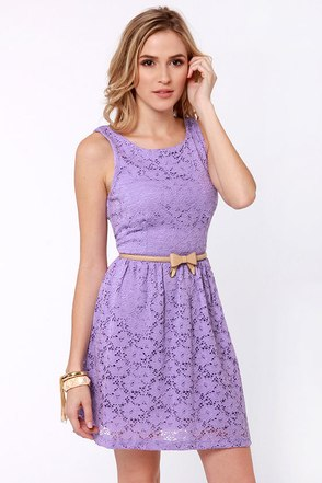 Cute Lavender Dress Lace Dress Purple Dress 41 00