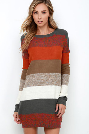 BB Dakota by Jack Marilou Striped Sweater Dress