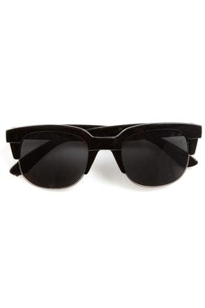 Book Smarts Black and Silver Sunglasses