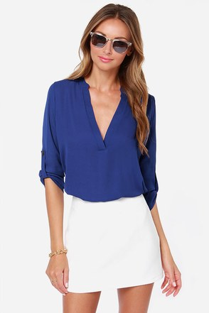 V-sionary Royal Blue Top