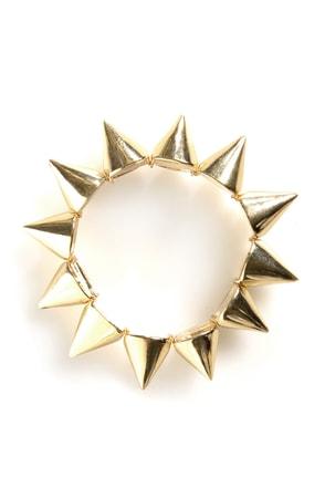 Spike It Like That Gold Spike Bracelet