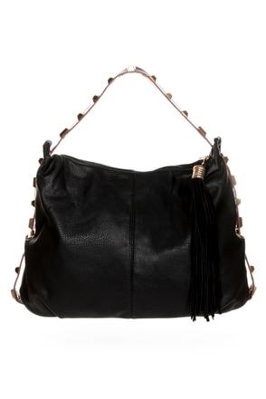 All the Extras Studded Black Handbag
