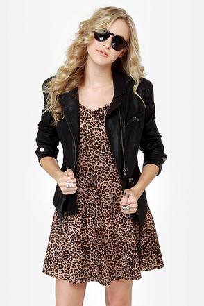 Cute Black Jacket - Vegan Leather Jacket - $94.00
