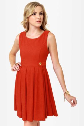 Good Day Sunshine Orange Dress