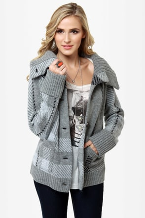Roxy Knickerbocker Grey Sweater