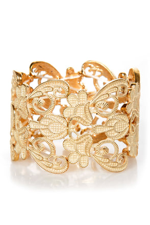 Putting On Heirlooms Gold Lace Cuff