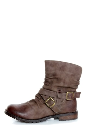 bamboo kacy 03 brown slouchy belted ankle boots 44 00