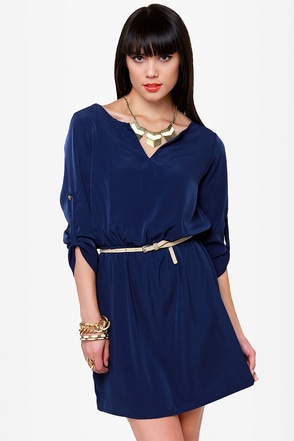 Keeping It Casual Navy Blue Dress