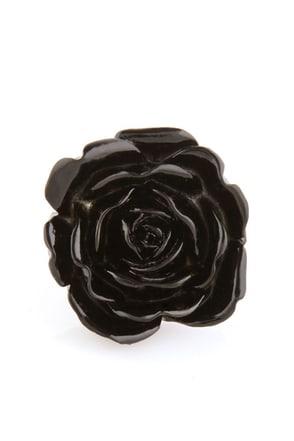 Zad Extreme Rose Black Rose Ring