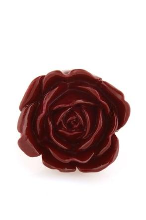 Zad Extreme Rose Burgundy Rose Ring
