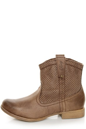 buckeye chocolate brown perforated ankle boots 79 00