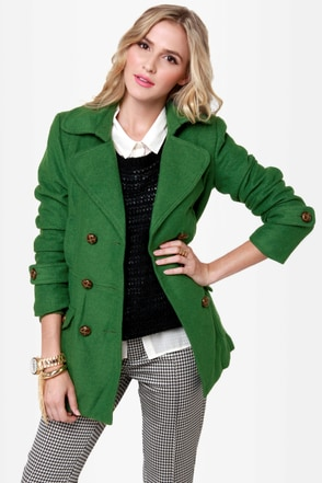 Bundle Me Up Green Coat