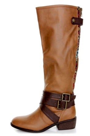 Pink Amp Pepper Racer Medium Brown Belted Riding Boots 79 00