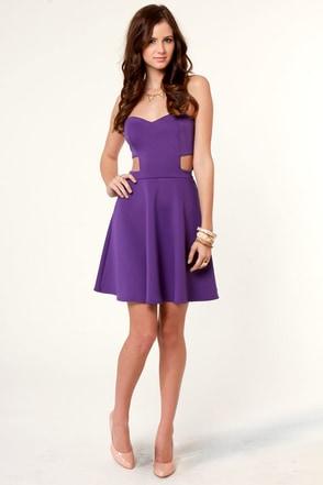 Strapless Lavender Dress - RP Dress