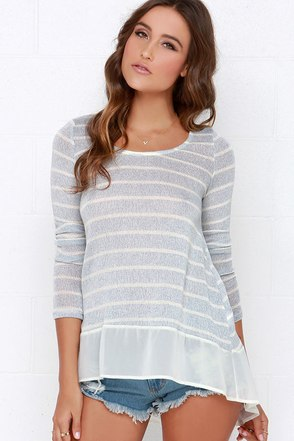 Frost at Sea Speckled Ivory Sweater Top at Lulus.com!