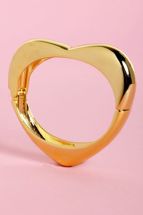 Love Me Do Gold Heart Bracelet