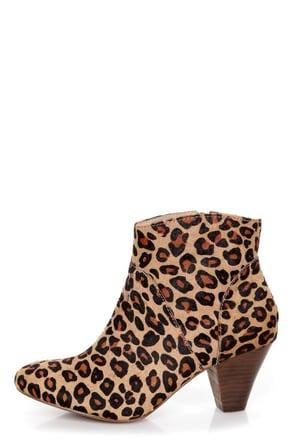Steve Madden Proccess Leopard Pony Fur Ankle Booties 129 00