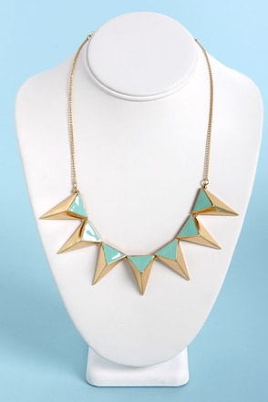 The Spike Who Loved Me Mint Triangle Necklace