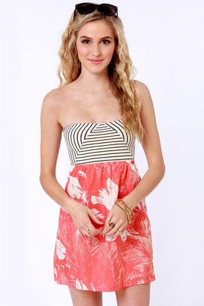 Roxy Savage 2 Dress Strapless Dress Print Dress 39 50
