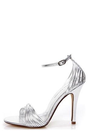 Chinese Laundry Legendary Silver Strappy Dress Sandals