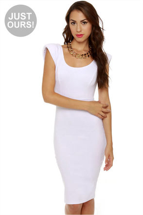 Cute Midi Dress White Dress 37 50