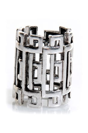 Daily Puzzler Silver Stretch Ring