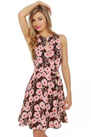 Verbena Flower Floral Print Dress