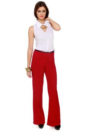 Cool Atmosphere Red Pants