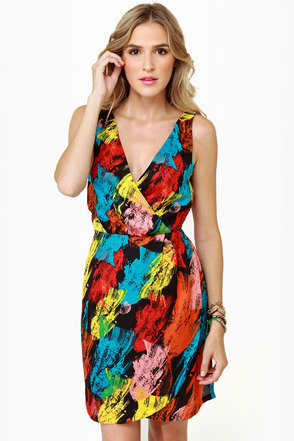 BB Dakota by Jack Edwin Print Dress