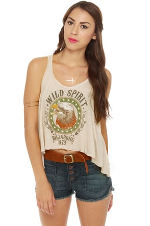 Billabong Silly Me Eagle Print Tank Top