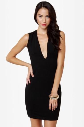 Blaque Label Rapid Descent Backless Black Dress