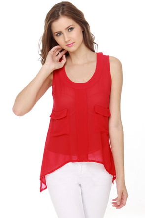 Strawberry Festival Red Tank Top