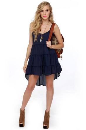 Cloud City Navy Blue Dress