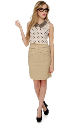 Schoolyard Star Beige Skirt